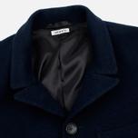 Мужское пальто Blue Blue Japan J5420 Hairly Fleece 4 Button Navy фото- 2