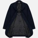 Мужское пальто Blue Blue Japan J5420 Hairly Fleece 4 Button Navy фото- 1