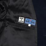 Мужское пальто Blue Blue Japan J5420 Hairly Fleece 4 Button Navy фото- 4
