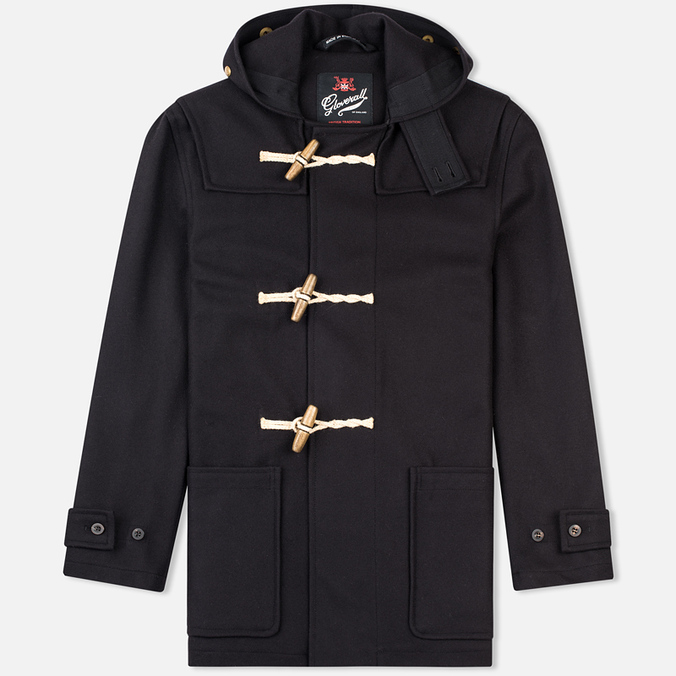Мужское пальто Gloverall Mid Monty Navy