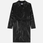 Мужское пальто MSGM Long Soft Artificial Leather Black фото- 0