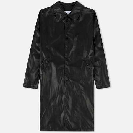 Мужское пальто MSGM Long Soft Artificial Leather Black