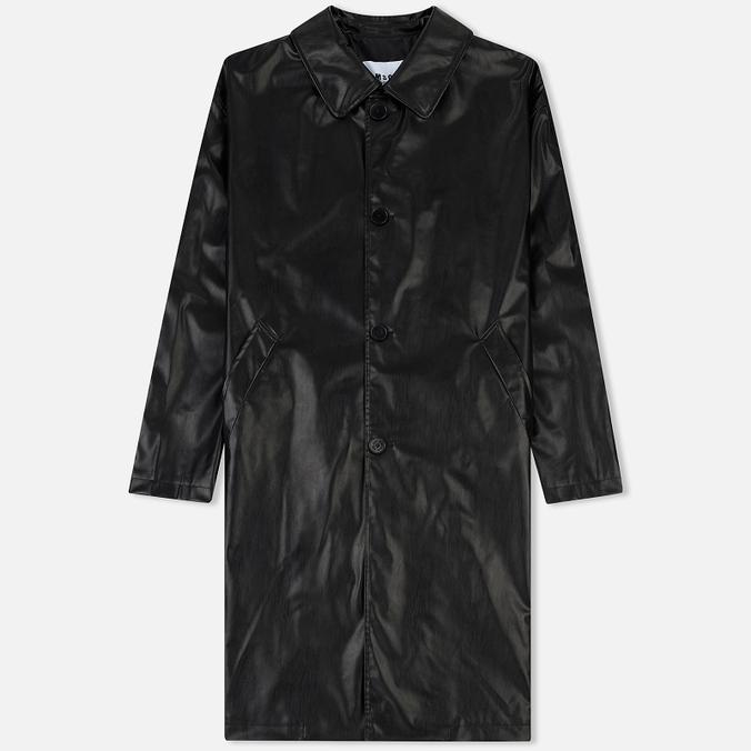 Мужское пальто MSGM Long Soft Artificial Leather Black