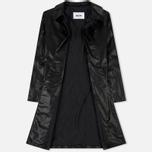 Мужское пальто MSGM Long Soft Artificial Leather Black фото- 2