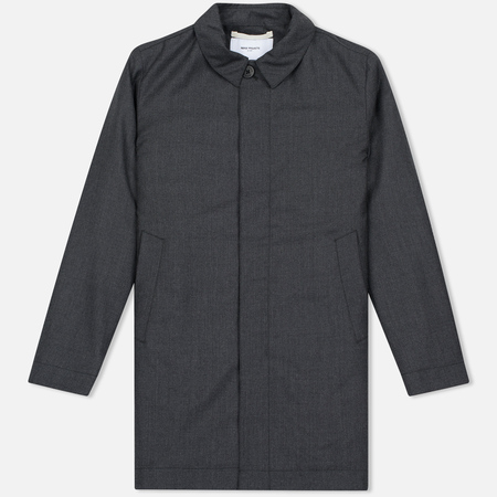 Мужское пальто Norse Projects Thor Padded Bristish Merino Grey Melange