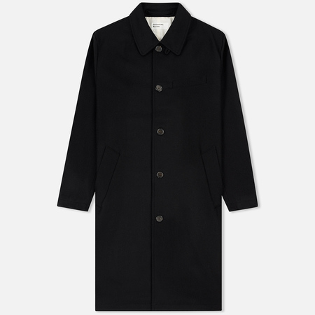 Мужское пальто Universal Works Overcoat Melton Black