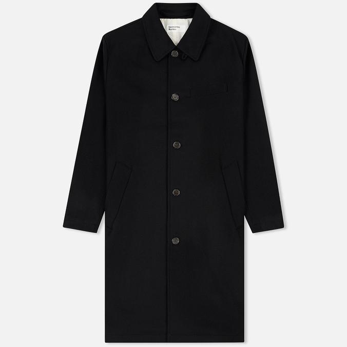 Мужское пальто Universal Works Overcoat Melton Black