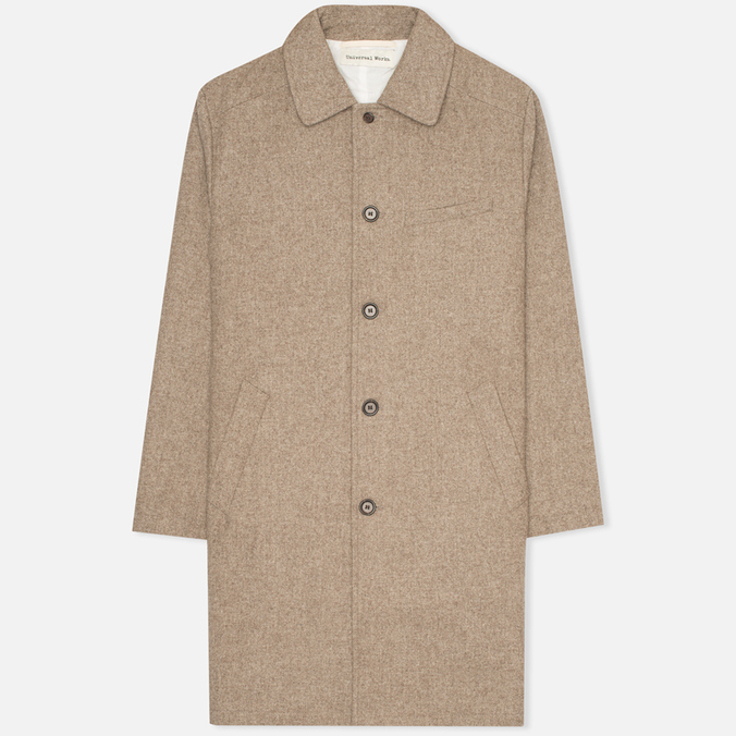 Мужское пальто Universal Works Top Khaki Melton
