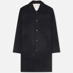 Universal Works Top Men's Coat Navy Melton photo- 0