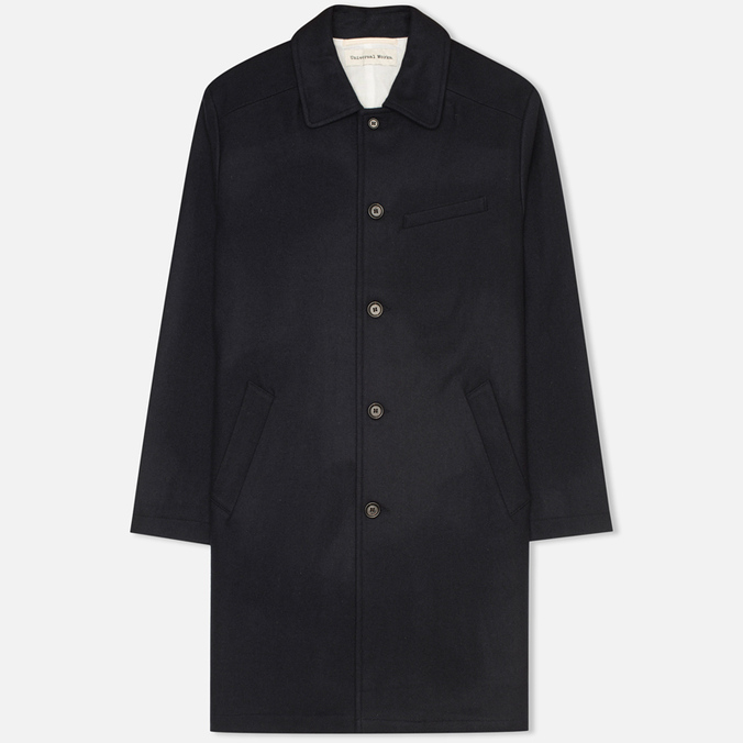 Universal Works Top Men's Coat Navy Melton