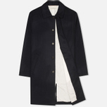 Universal Works Top Men's Coat Navy Melton photo- 1