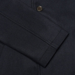 Universal Works Top Men's Coat Navy Melton photo- 3
