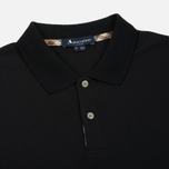 Мужское поло Aquascutum Hector Club Check Pique Black фото- 1