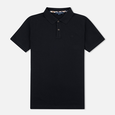 Aquascutum Hilton Cotton Men's Polo Black