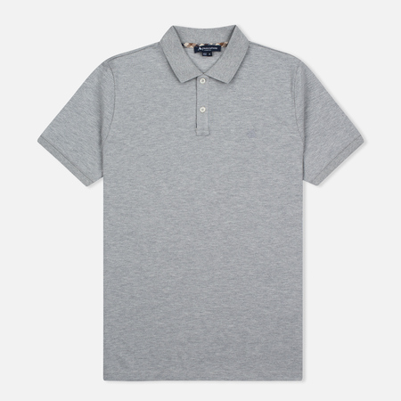Aquascutum Hilton Cotton Men's polo Grey
