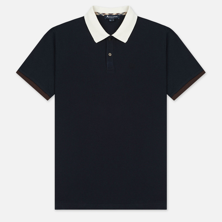 Мужское поло Aquascutum Lee Block Colours Pique SS Navy