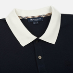 Мужское поло Aquascutum Lee Block Colours Pique SS Navy фото- 1
