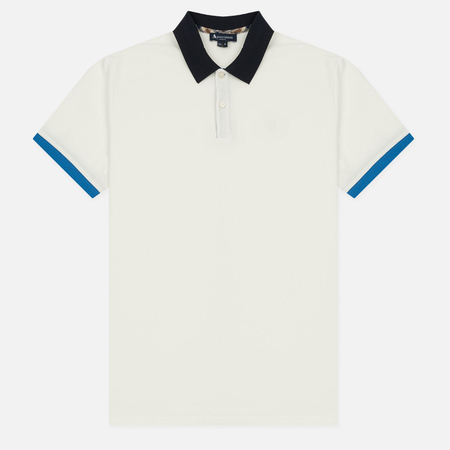 Мужское поло Aquascutum Lee Block Colours Pique SS White