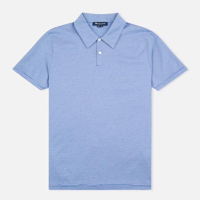 Мужское поло Aquascutum Silsden Fine Stripe Blue