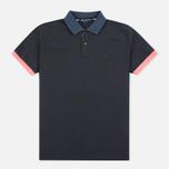 Мужское поло Aquascutum Timbs Contrast Collar & Cuff Logo Charcoal фото- 0