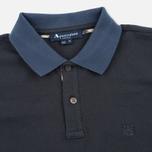 Мужское поло Aquascutum Timbs Contrast Collar & Cuff Logo Charcoal фото- 1