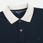 Aquascutum Timbs Contrast Collar & Cuff Logo Men's Polo Navy photo- 1