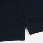 Aquascutum Timbs Contrast Collar & Cuff Logo Men's Polo Navy photo- 3