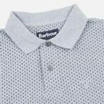 Мужское поло Barbour Cross Printed Grey Marl фото- 1
