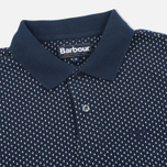 Мужское поло Barbour Cross Printed Navy фото- 1