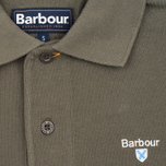 Мужское поло Barbour Sports Dark Olive фото- 2