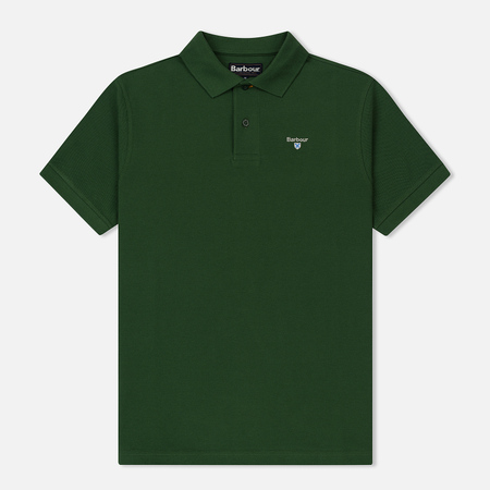 Мужское поло Barbour Sports Racing Green