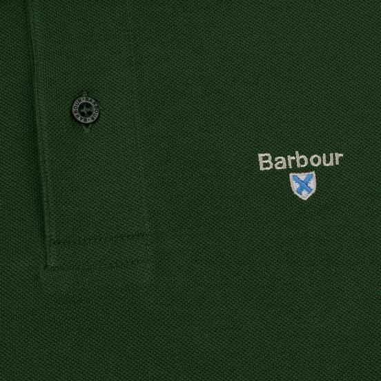 Мужское поло Barbour Sports Racing Green