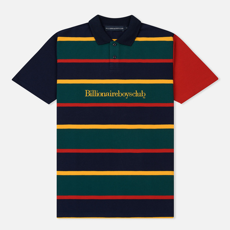 Мужское поло Billionaire Boys Club Striped Pique Dark Blue