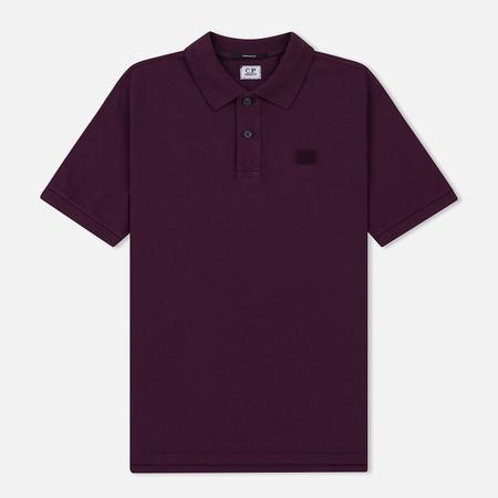 Мужское поло C.P. Company Basic Logo Pacth Chest Gloxinia Purple