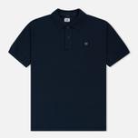 Мужское поло C.P. Company Regular Fit Garment Dyed SS Black Iris фото- 0