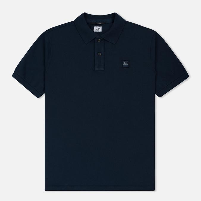 Мужское поло C.P. Company Regular Fit Garment Dyed SS Black Iris