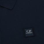 Мужское поло C.P. Company Regular Fit Garment Dyed SS Black Iris фото- 2