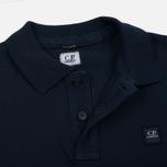 Мужское поло C.P. Company Regular Fit Garment Dyed SS Black Iris фото- 1