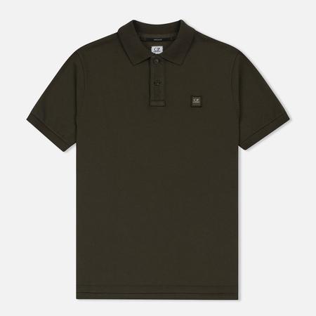 Мужское поло C.P. Company Regular Fit Garment Dyed SS Moss