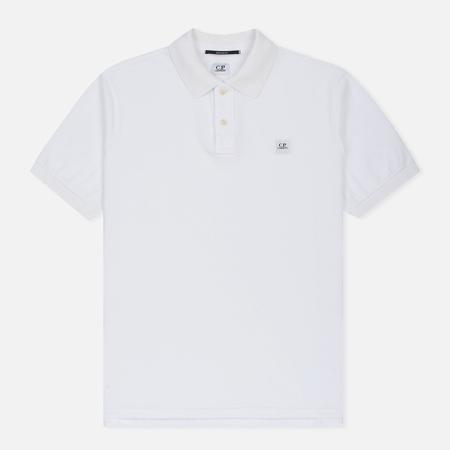 Мужское поло C.P. Company Regular Fit Garment Dyed SS Optic White