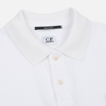Мужское поло C.P. Company Regular Fit Garment Dyed SS Optic White фото- 1