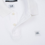 Мужское поло C.P. Company Regular Fit Garment Dyed SS Optic White фото- 3