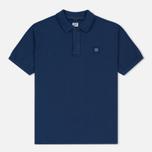 Мужское поло C.P. Company Regular Fit Garment Dyed SS True Navy фото- 0