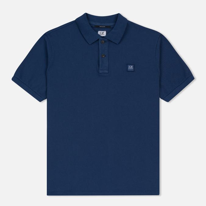 Мужское поло C.P. Company Regular Fit Garment Dyed SS True Navy