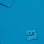 Мужское поло C.P. Company Regular Fit Garment Dyed SS Turquoise фото- 2