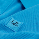 Мужское поло C.P. Company Regular Fit Garment Dyed SS Turquoise фото- 6