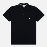 Carhartt WIP SS Slim Fit Men's Polo Black/White photo- 0