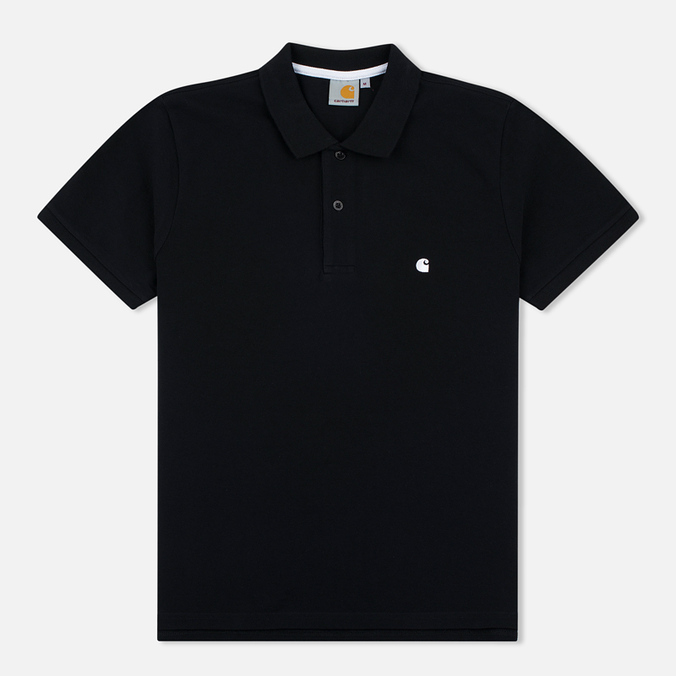 Carhartt WIP SS Slim Fit Men's Polo Black/White