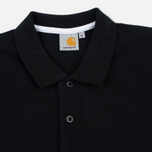 Carhartt WIP SS Slim Fit Men's Polo Black/White photo- 1
