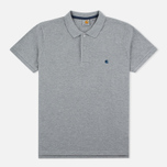Мужское поло Carhartt WIP SS Slim Fit Grey Heather/Blue фото- 0